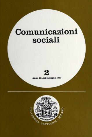COMUNICAZIONI SOCIALI - 1980 - 2