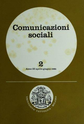 COMUNICAZIONI SOCIALI - 1981 - 2