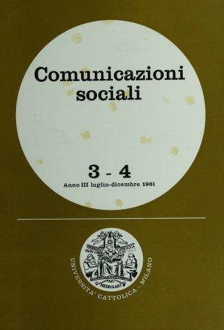 COMUNICAZIONI SOCIALI - 1981 - 3-4