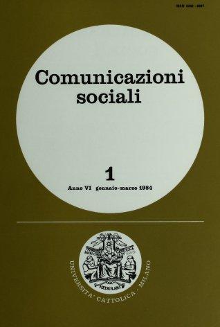 COMUNICAZIONI SOCIALI - 1984 - 1