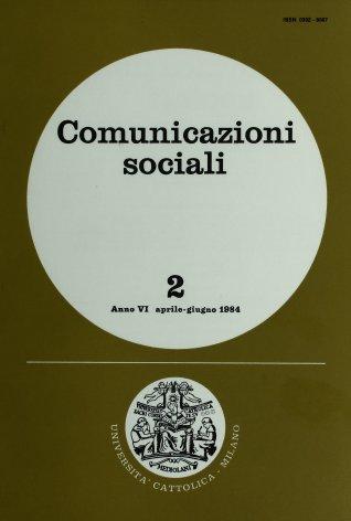 COMUNICAZIONI SOCIALI - 1984 - 2