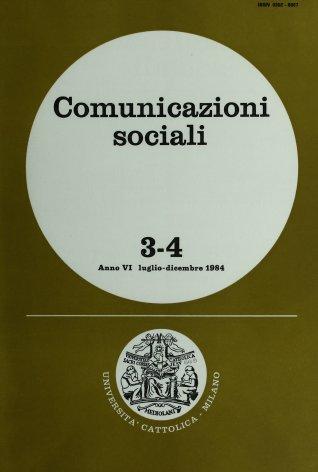 COMUNICAZIONI SOCIALI - 1984 - 3-4