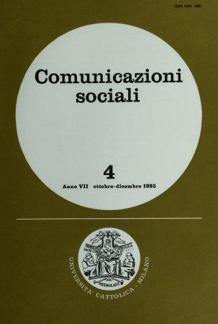 COMUNICAZIONI SOCIALI - 1985 - 4