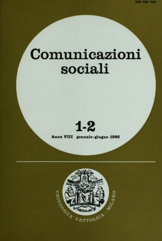 COMUNICAZIONI SOCIALI - 1986 - 1-2. LA TRAGEDIA INATTUALE