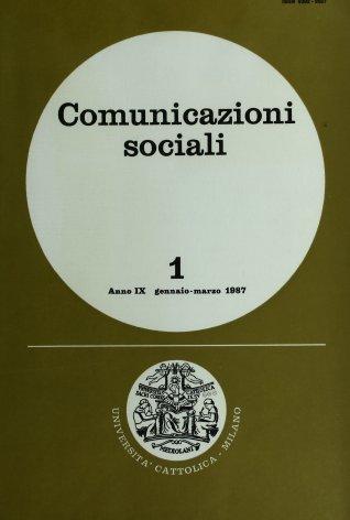 COMUNICAZIONI SOCIALI - 1987 - 1