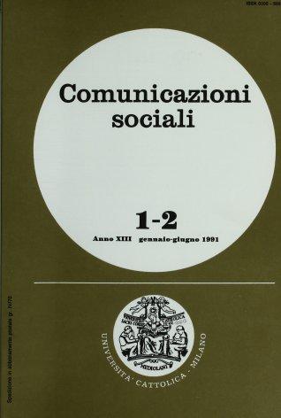 COMUNICAZIONI SOCIALI - 1991 - 1-2. IL CINEMA A MILANO DAL SECONDO DOPOGUERRA AI PRIMI ANNI SESSANTA