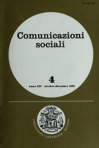 COMUNICAZIONI SOCIALI - 1992 - 4