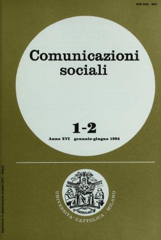 COMUNICAZIONI SOCIALI - 1994 - 1-2. ASPETTI DELLA TEATRALITÀ A MILANO NELL'ETÀ BAROCCA