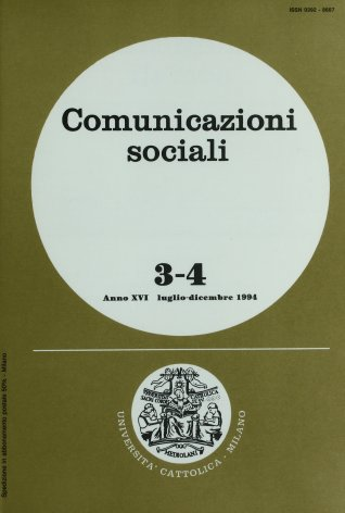 COMUNICAZIONI SOCIALI - 1994 - 3-4. IL CINEMA DELLE ORIGINI A MILANO