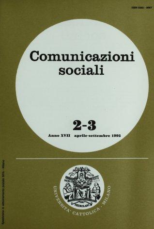 COMUNICAZIONI SOCIALI - 1995 - 2-3. CINEMA E CULTURA POPOLARE NELL'ITALIA ANNI CINQUANTA