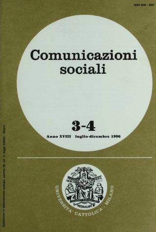 COMUNICAZIONI SOCIALI - 1996 - 3-4. L'EFFICACIA DELLA COMUNICAZIONE PUBBLICITARIA