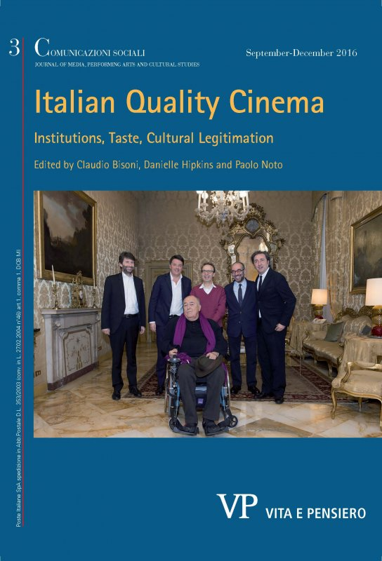 COMUNICAZIONI SOCIALI - 2016 - 3. ITALIAN QUALITY CINEMA