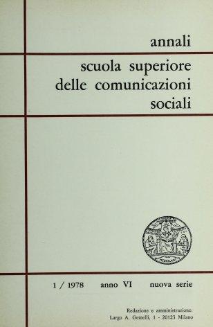 Per una bibliografia sulla televisione in Italia. Dal 1928 al 1942